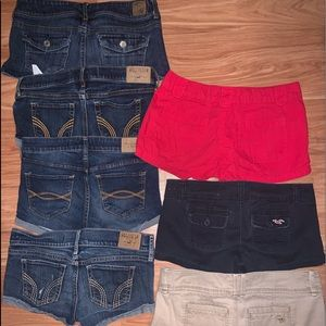 7 pair of name brand shorts size 0-1